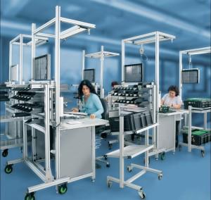 perfiles de aluminio  Puestos de montaje manual perfiles1